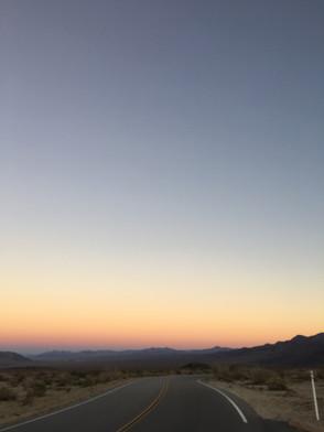 Sunset in the deset.