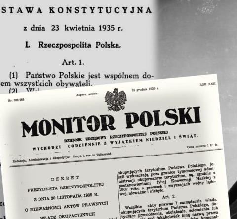 Jedyna legalna Konstytucja Kwietniowa z 1935 roku
