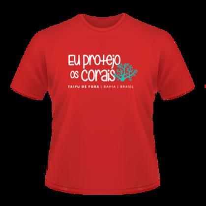 Camiseta Eu protejo os corais