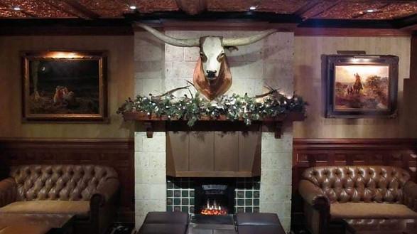 The Driskill Bar fireplace