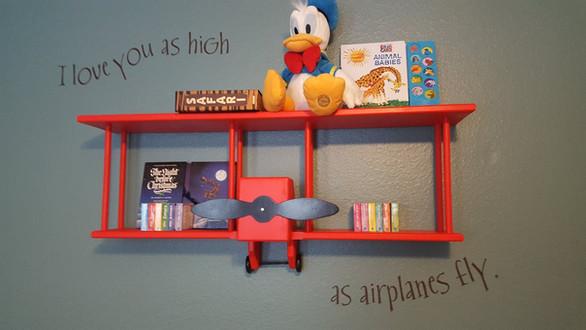 Wall in little boy's nursery (He loves airplanes!)