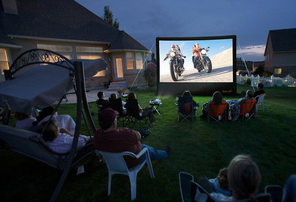 Inflatable  Movie Screen, 24 feet from A DJ Connection, A/V Audio Visual Services