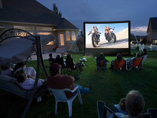 Need a Screen for Your Outdoor Movie Night?