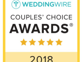 Winner of 2018 WeddingWire's Couples' Choice Award®