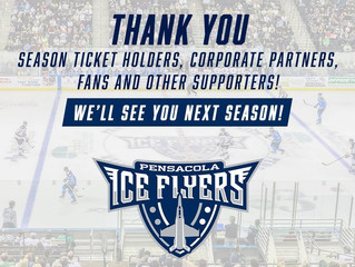 Thank You to the 2017-2018 Pensacola Ice Flyers!
