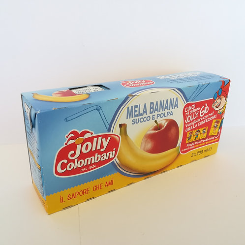 Jolly Succo Brik Mela/Ban. Ml. 200X3