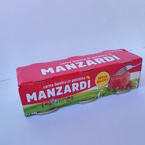 Manzardi' Carne Lessata 3X90 Gr