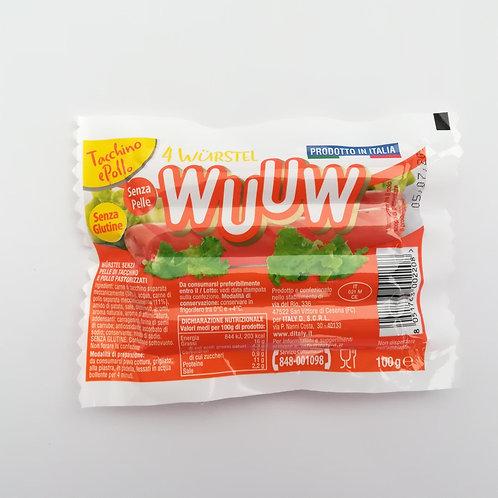 Wuuw Wurstel Pollo Tacchino 100 Gr
