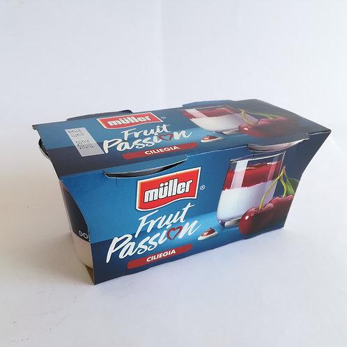 Muller Yogurt Fruit Pass/Cilie. 2X125 Gr