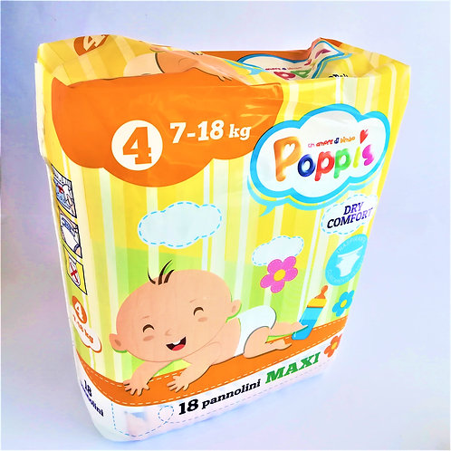 Poppis Pannolini Maxi Kg 7 18 Pz 18