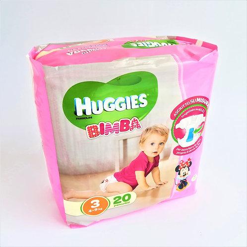 Huggies Bimba N. 3 X20 Kg 4-9