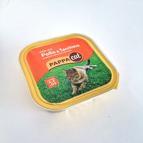 Pappacat Pate' Pollo/Tacch. 100 Gr