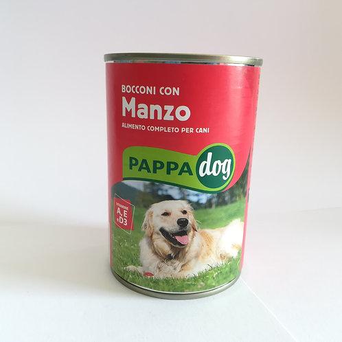 Pappadog Bocconi Manzo Latt. 415 Gr