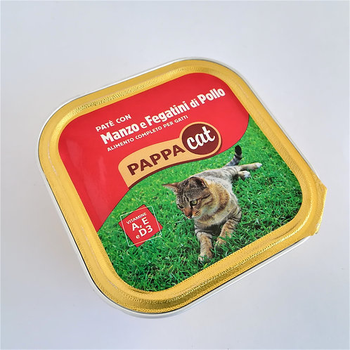 Pappacat Pate' Manzo/Feg. Pollo 100 Gr