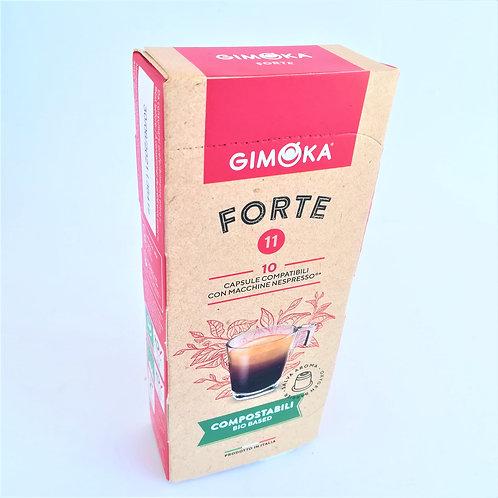 Gimoka Caps. Compos. Nespres. Forte X10