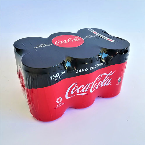Coca Cola Zero Minilattina Cl.15X6