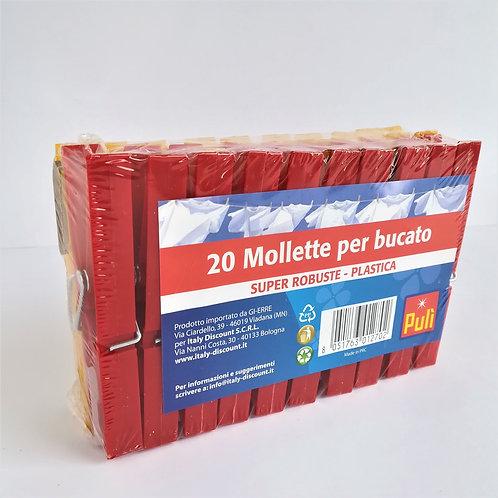 Puli' Mollette Bucato Grandi X20