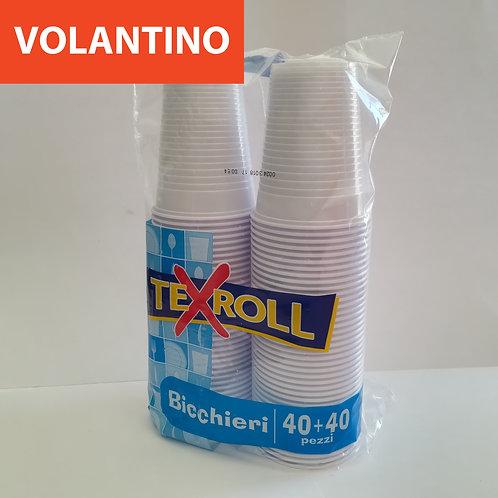 Texroll Bicchieri 200Cc 40+40 Pz