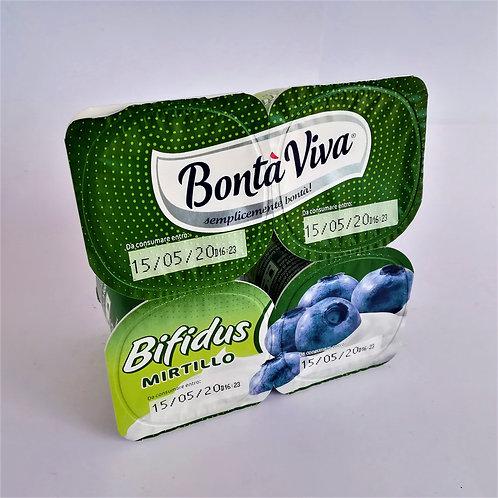 Bontá Viva Bifidus Mirtil. 4X125 Gr