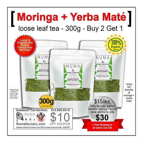 Moringa + Yerba Mate | Loose Leaf Tea - 300g