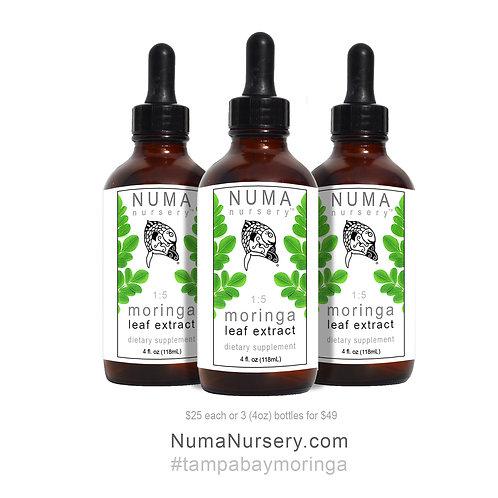 3 Moringa Leaf Extracts 4oz
