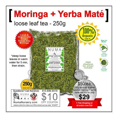 Moringa + Yerba Mate | Loose Leaf Tea - 250g