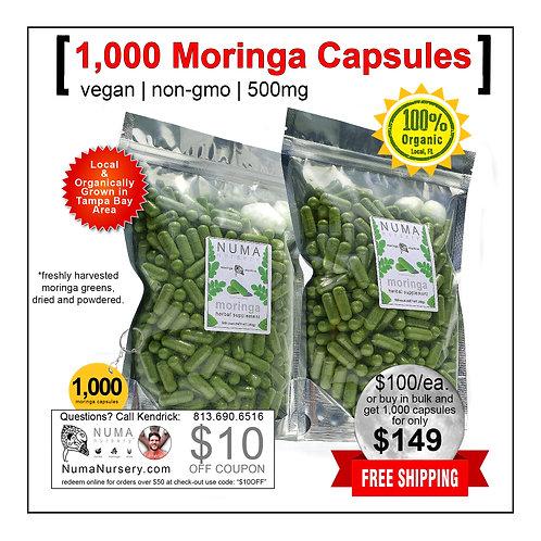 1,000 Moringa Capsules