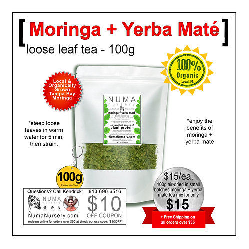 Moringa + Yerba Mate | Loose Leaf Tea - 100g