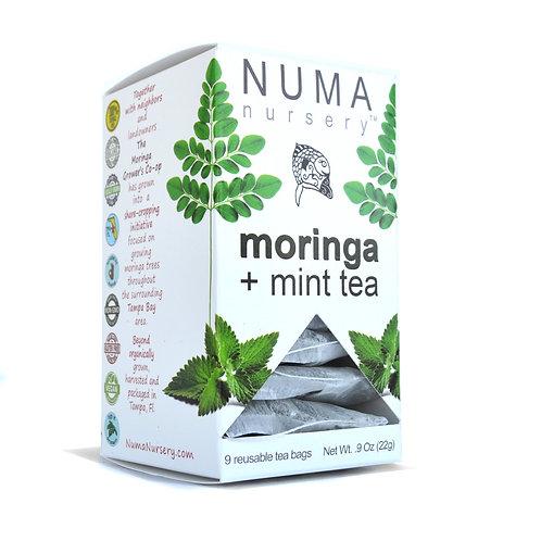 moringa + mint tea 9ct. box 22g