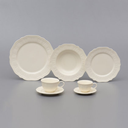 105670 Jogo jantar 42pçs Cream
