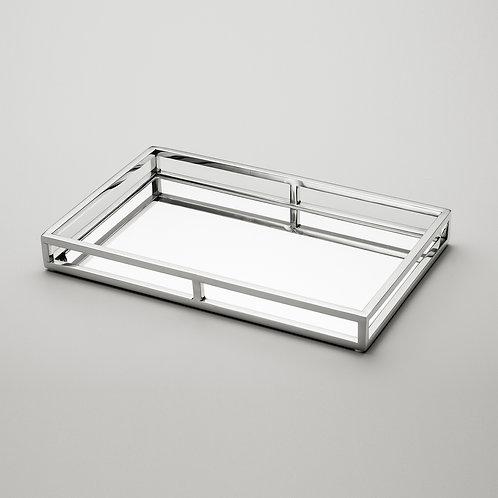 81775 Bandeja mirror metal com espelho 41x26cm
