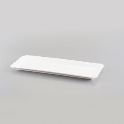 103739 Bandeja retangular porcelana 30,2x12,5x1,7cm square