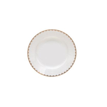 118526 Jogo 06 pratos de sopa Bone China dourado