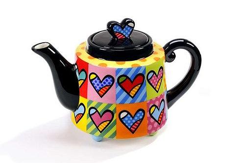 100211 Bule Romero Brito teapot hearts