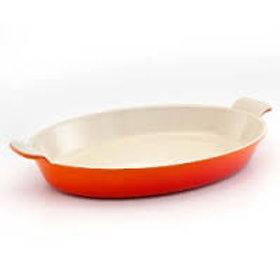 106706 Travessa oval 36cm Le Creuset laranja ferro