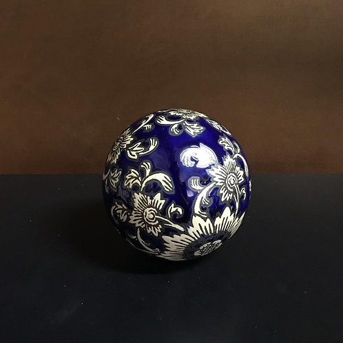 113644 Bola decorativa em cerâmica