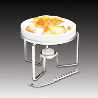 45435 Rechaud p/ queijo brie 15cm c/ faca inox