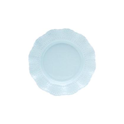 110686 Jogo 06 pratos sobremesa Princess azul