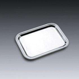 86537 Bandeja perola 26x20cm sem alça prata