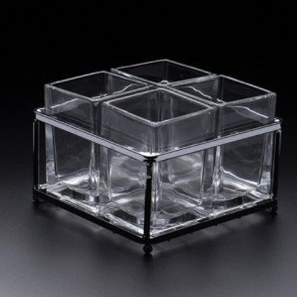 104806 Porta talheres cristal quadrado