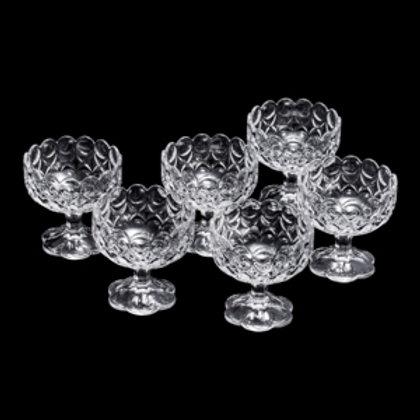107234 Jg 6 bowls cristal com pé Angelica 10,5x10,5x10,5cm