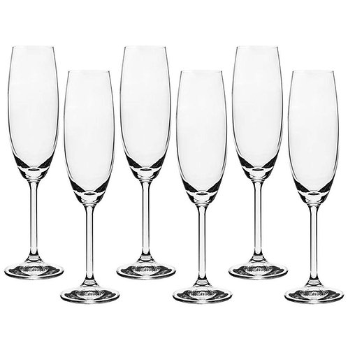 114744 Jg 6 taças champanhe 220ml Anna