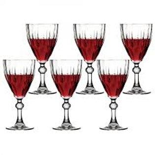 93839 Jogo 06 taças vinho Diamond