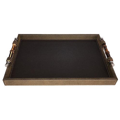 110954 Bandeja Bambu Marrom 40x30x6cm