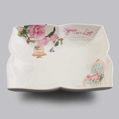 103399 Jg 6 pratos fundos 20,3cm Flowers