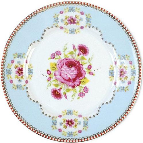 96627 Prato pão azul floral 17cm PIP