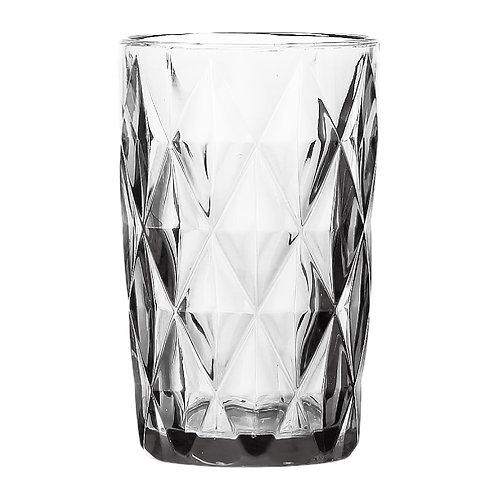 125124 Cj 6 copos altos diamond transparente 330ML