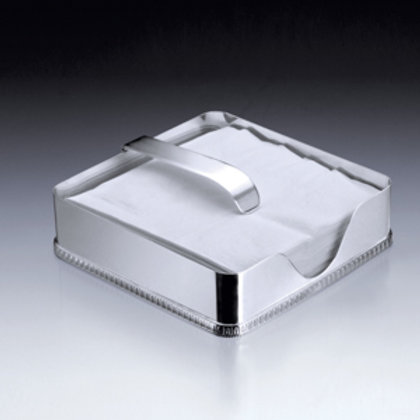 106008 Porta guardanapo prata liso