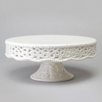 103524 Prato para bolo com pé rendado 29,2x12,5cm