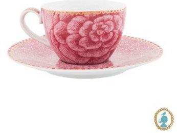 111365 Xicara cafezinho rosa Spring Life